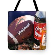 Jim Beam Coke And Football Tote Bag