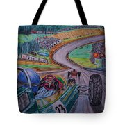Jim Clark The King Of Spa Tote Bag