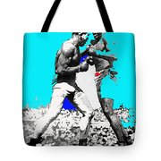 Jim Jeffries Jack Johnson Reno Nevada July 4th 1910-2010  Tote Bag