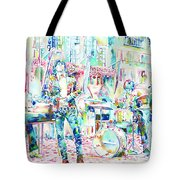 Jim Morrison And The Doors Live Concert In The Street Tote Bag