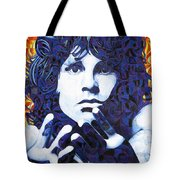 Jim Morrison Chuck Close Style Tote Bag by Joshua Morton