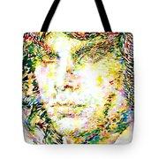Jim Morrison Watercolor Portrait.2 Tote Bag