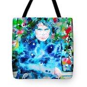 Jim Morrison Watercolor Portrait.3 Tote Bag