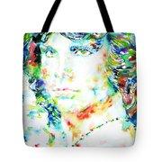 Jim Morrison Watercolor Portrait.5 Tote Bag