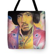 Jimi Hendrix Eyes Tote Bag