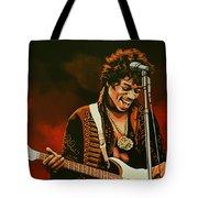 Jimi Hendrix Painting Tote Bag