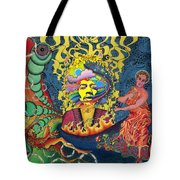 Jimi Hendrix Rainbow Bridge Tote Bag