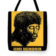 Jimi Hendrix Rock Music Poster Tote Bag