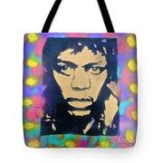 Jimi Hendrix Squared Tote Bag