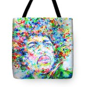 Jimi Hendrix  - Watercolor Portrait.3 Tote Bag