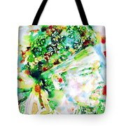 Jimi Hendrix  - Watercolor Portrait.4 Tote Bag