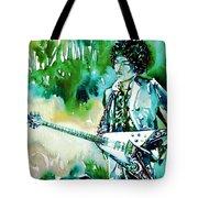 Jimi Hendrix With Guitar Tote Bag