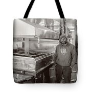 Jimmy At Mt Cube Sugar Farm Tote Bag by Edward Fielding