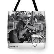 Jimmy Buffett Fins Up Signed Photo Tote Bag
