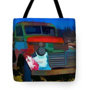 Jimmy In Taos - Abstract Tote Bag