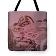Jo Siffert And His Brabham Bt11 Tote Bag