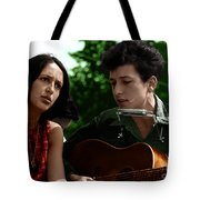 Joan Baez With Bob Dylan Tote Bag