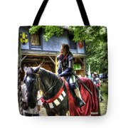 Joan Of Arc - A Woman Knight  In Armor Tote Bag