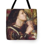 Joan Of Arc Kisses The Sword Of Liberation Tote Bag