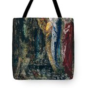 Job And The Angels Tote Bag by Gustave Moreau