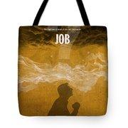 Job Books Of The Bible Series Old Testament Minimal Poster Art Number 18 Tote Bag