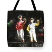 Jockeys In A Row Tote Bag