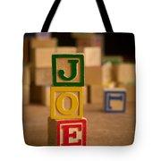 Joe - Alphabet Blocks Tote Bag
