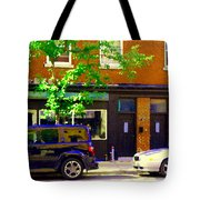 Joe Beef Liverpool House Notre Dame Little Burgundy Restaurant Montreal City Scene Carole Spandau Tote Bag