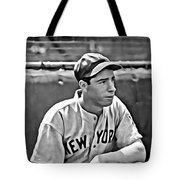 Joe Dimaggio Painting Tote Bag