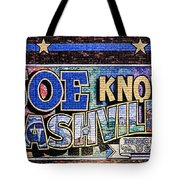 Joe Knows Nashville Tote Bag