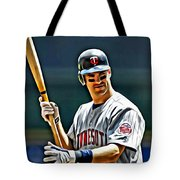 Joe Mauer Painting Tote Bag