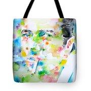 Joe Strummer - Watercolor Portrait Tote Bag
