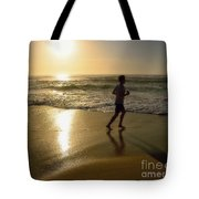 Jogging At Sunrise By Kaye Menner Tote Bag