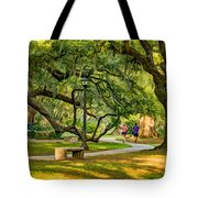 Jogging In City Park Tote Bag