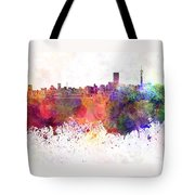 Johannesburg Skyline In Watercolor Background Tote Bag
