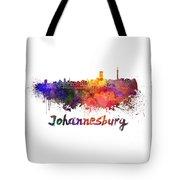 Johannesburg Skyline In Watercolor Tote Bag