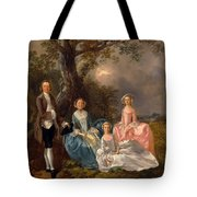 John And Ann Gravenor With Their Daughters Tote Bag