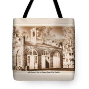 John Browns Fort - Harpers Ferry West Virginia - Modern Day Sepia Tote Bag by Michael Mazaika