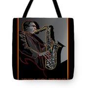 John Coltrane Jazz Saxophone Legend Tote Bag
