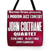 John Coltrane Quartet In Sweden Tote Bag