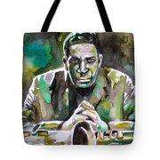 John Coltrane - Watercolor Portrait Tote Bag