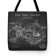 John Deer Tractor Patent Drawing From 1933 Tote Bag