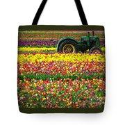John Deere Tulips Tote Bag