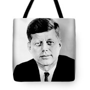 John F. Kennedy Tote Bag by Benjamin Yeager