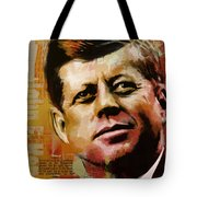 John F. Kennedy Tote Bag by Corporate Art Task Force