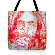 John Lennon With Rose Tote Bag
