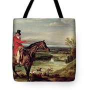 John Levett Hunting In The Park At Wychnor Tote Bag
