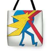 John Receives His Updated Employee Benefits Tote Bag