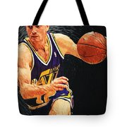 John Stockton Tote Bag by Taylan Apukovska