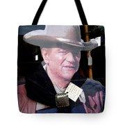 John Wayne Cardboard Cut-out In Store Window Tombstone  Arizona 2004 Tote Bag